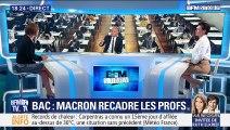 Bac: Emmanuel Macron recadre les profs