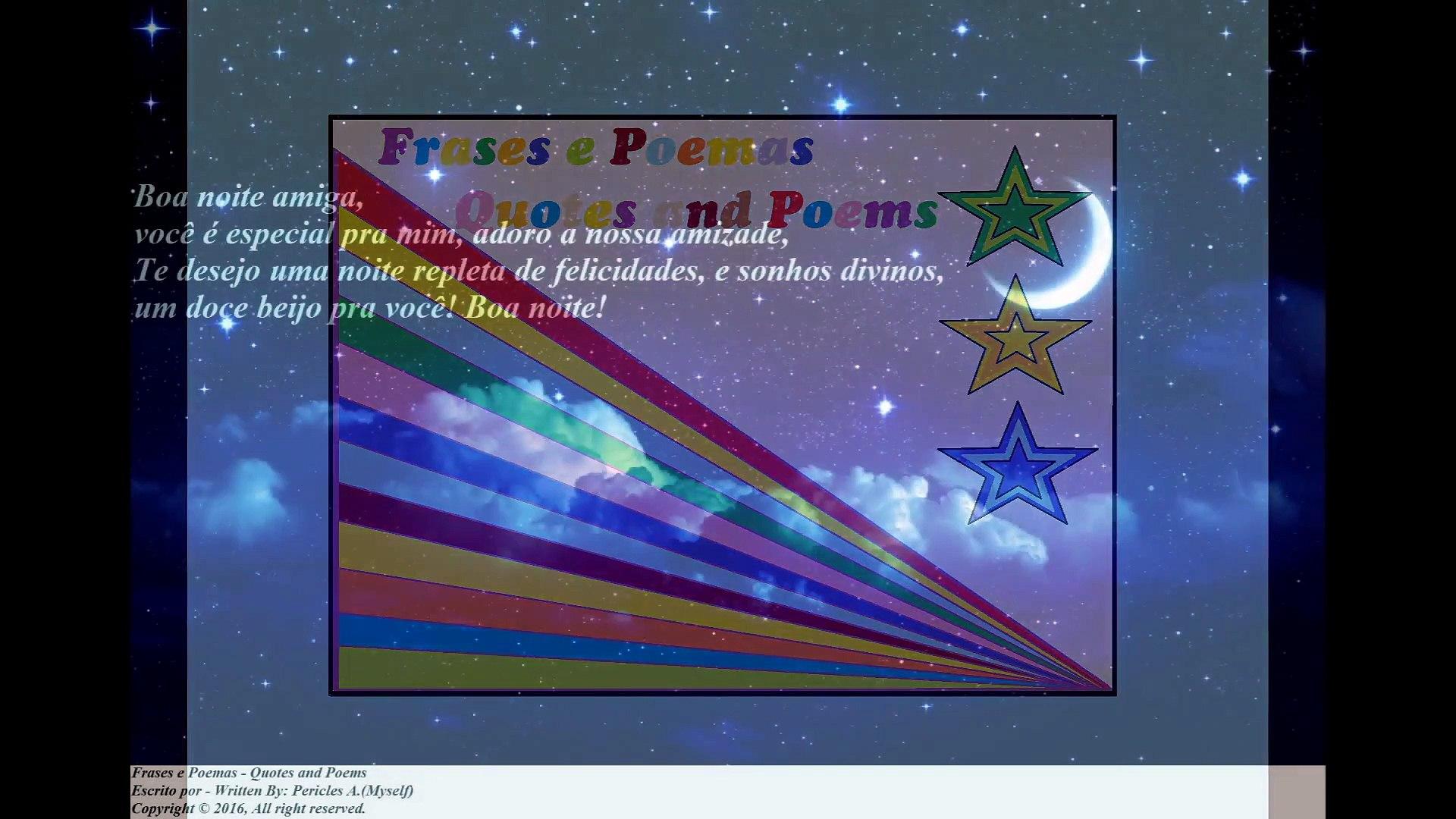 Boa Noite Amiga Você é Especial Pra Mim Adoro A Sua Amizade Mensagem Frases E Poemas
