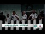 ¡Así fue el segundo día de protestas de la Policía Federal! | Noticias con Francisco Zea