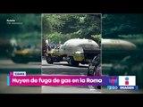 Falla en una pipa ocasiona una fuga de gas en la colonia Roma | Noticias con Yuriria Sierra