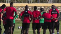 Senegal prepare for Africa Cup of Nations quarter-final against Benin in Cairo