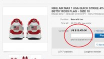 Nike Air Max Betsy Ross Flag Shoes Selling for over 15K on Ebay
