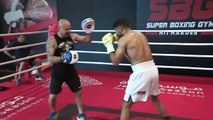 Amir Khan holds workout ahead of bout with Billy Dib in Saudi Arabia