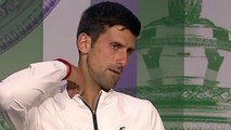 "Wimbledon 2019 - Novak Djokovic : ""David Goffin, I'm suspicious of grass ... and it's a quarter final"""