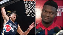 Zion impressed by Jaxson Hayes' dunk, taking precautions with knee injury _ 2019 NBA Summer League
