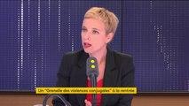 """""""Bla-bla-bli, bla-bla-bla..."""": Clémentine Autain se moque des propositions de Marlène Schiappa contre les féminicides"""