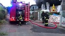 Settimo Milanese (MI) - Incendio azienda trattamento di rifiuti (09.07.19)