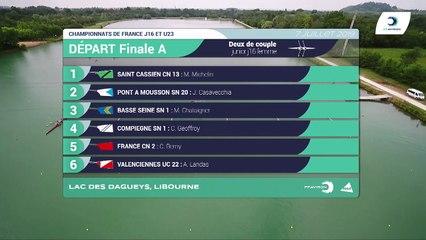 Championnat de France J16 Bateaux longs Libourne 2019 - Finale du deux de couple femmes-J16F2X