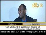 Le Président de la Commission éthique et anti-corruption, Youri Latortue se dit satisfait