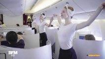 Ces 10 danseuses de l'Opéra de Paris ont offert un spectacle poétique à bord d'un vol Air France