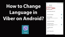 How to Change Language in Viber on Android?