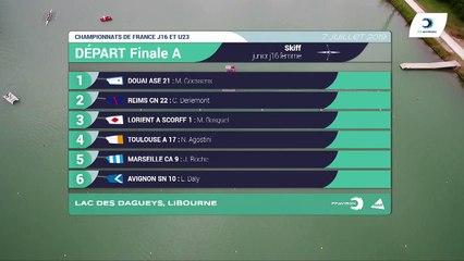 Championnat de France J16 Bateaux longs Libourne 2019 - Finale du skiff femmes-J16F1X