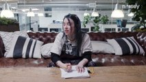 Billie Eilish Talks Her Love for Anime While Drawing Her Self-Portrait