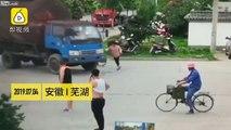 Tentative d'arnaque à l'assurance, cette piétonne se jette sous un camion..