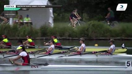Championnat de France J16 Bateaux longs Libourne 2019 - Finale du quatre de couple femmes-J16F4x