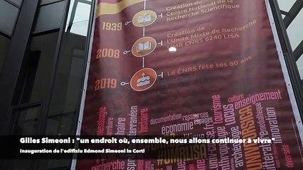 Università : l'edifiziu Edmond Simeoni pour les Sciences Humaines et Sociales