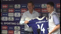 Samir Nasri présenté à Anderlecht