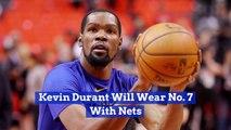 Kevin Durant Picks His New Brooklyn Nets Jersey