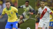 O balanço da Copa América dos jogadores que atuam no Brasil