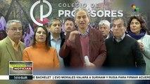 Colegio de Profesores de Chile insta a sus bases a deponer paro