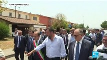 """Salvini à Mineo : """"Le centre ferme et c'est une journée splendide"""""""
