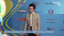Cameron Boyce Said He Hoped to Lead by Example on 'What It Means to Give Back' in Final Interview