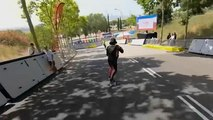 Watch: Racers whizz downhill at the World Roller Games