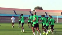 Nigeria train for Africa Cup of Nations quarter-final against South Africa