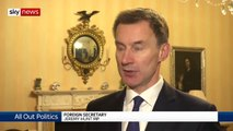 Jeremy Hunt Slams Trump Over 'Disrespectful' Comment About May, UK Ambassador