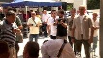 Antalya'da birlerce kişi Kırkpınar Başpehlivanı Ali Gürbüz için bir araya geldi