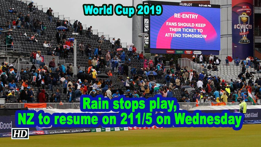 World Cup 2019 | Rain stops play, NZ to resume on 211/5 on Wednesday