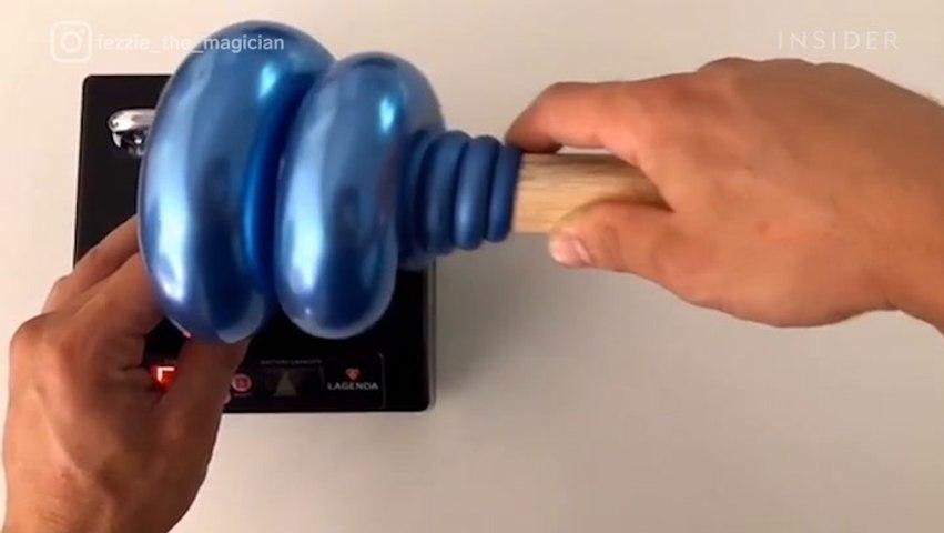 This magician makes incredible chrome balloon art