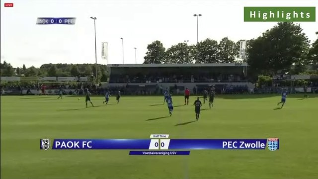 PAOK 2-2 PEC Zwolle - Full Highlights 09.07.2019