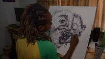 This Nigerian Artist Is Turning Scribbles Into Art