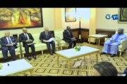 RTG/Entretien entre le Chef de l'état Ali Bongo Ondimba et une délégation de la Banque des Etats de l'Afrique Centrale