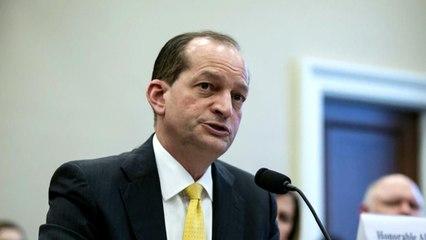 Labor Secretary Alex Acosta faces mounting pressure to resign over Epstein case