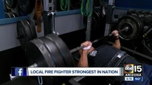 Glendale firefighter strongest in nation