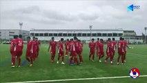 Các cầu thủ ĐT U15 Việt Nam hứng khởi bước vào buổi tập đầu tiên tại J-Green Sakai   VFF Channel