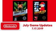 Nintendo Switch Online - Les nouveaux jeux NES de juillet 2019