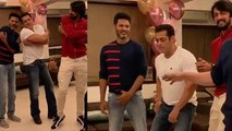 Salman Khan dances with Kichcha Sudeep & Sajid Nadiadwala on Urvashi song; Watch Video | FilmiBeat