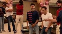Salman Khan dances with Kichcha Sudeep & Sajid Nadiadwala on Urvashi song; Watch Video   FilmiBeat