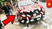 Maserati ditempeli pembalut karena parkir sembarangan! - TomoNews
