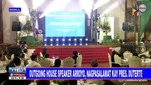 Outgoing House speaker Arroyo, nagpasalamat kay Pangulong #Duterte