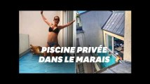 C'est quoi cette piscine balcon dans cet hôtel parisien?