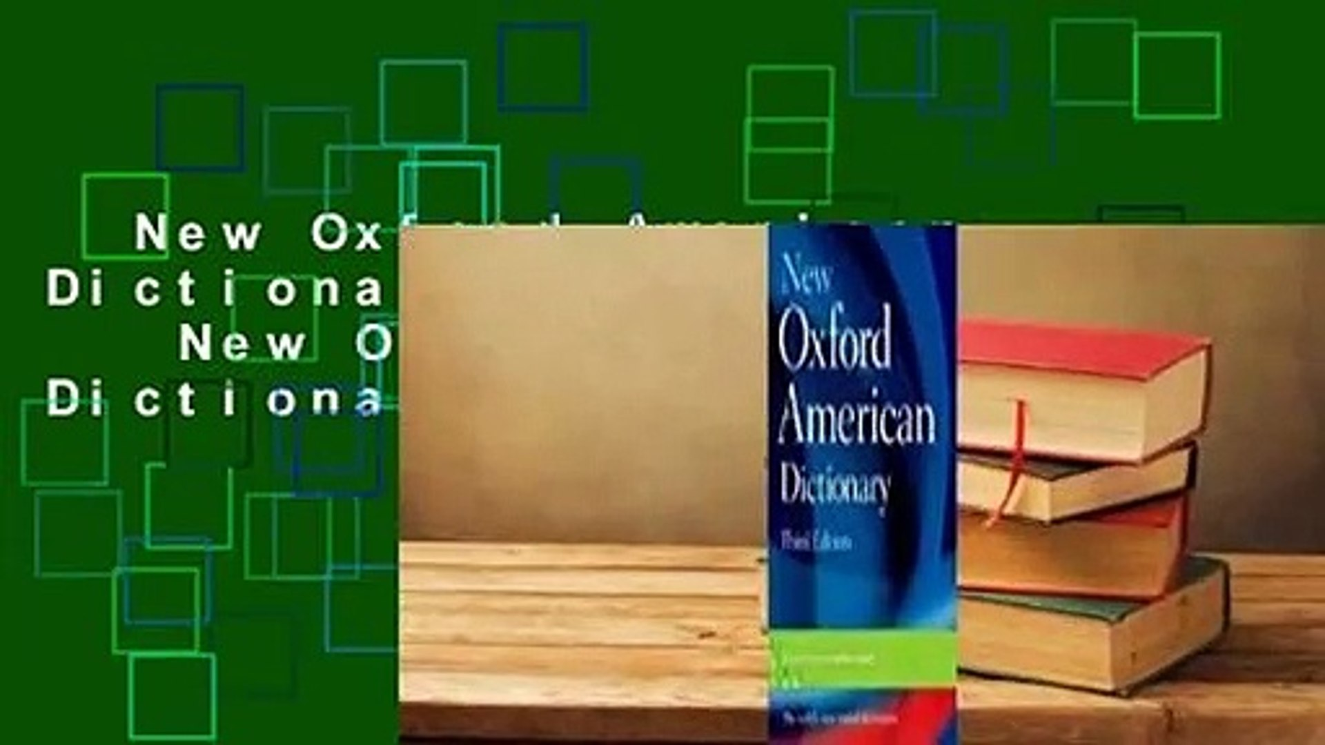 New Oxford American Dictionary Complete New Oxford American Dictionary  Complete