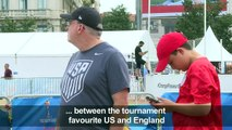 WC 2019 US supporters arrive in Lyon ahead of semi-final