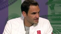 Wimbledon 2019 - Roger Federer  I had the impression that everything was going slowly