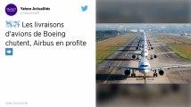 Les livraisons d'avions de Boeing chutent, Airbus en profite