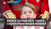 Prince George gets tennis lesson from Roger Federer (2)