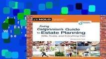 Full E-book  Every Californian s Guide to Estate Planning: Wills, Trust   Everything Else  Review